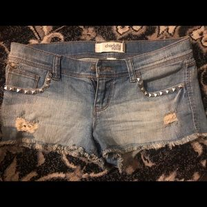 Charlotte Russe blue jeans, distressed size 4
